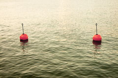 Bouy by the lake Stock Image