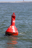 Bouy. A red bouy in the north sea Stock Images