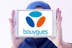 Bouygues Telecom logo Stock Photography