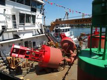 Bouys on a ship. Royalty Free Stock Photography