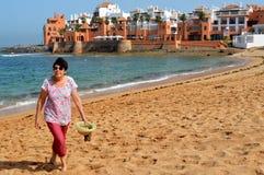 Bouznika (пляж атлантического побережья Марокко) Стоковые Изображения