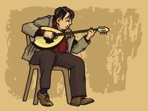 bouzouki artysta royalty ilustracja