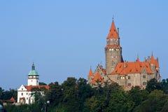 bouzov城堡 免版税库存照片