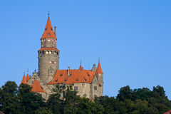 bouzov城堡 免版税库存图片