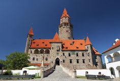 Bouzov castle stock photo