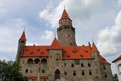 bouzov castle Arkivfoto