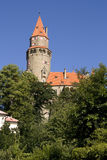 Bouzov castle. Czech republic - gothic medieval tower Royalty Free Stock Images