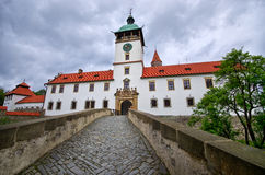 Bouzov castle with dramatic sky Stock Photography
