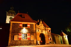 Bouzov Castle at night Royalty Free Stock Photo