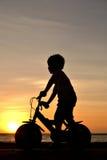 Bov on bike Stock Photography