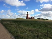 Bovbjerg lighthouse Stock Photo