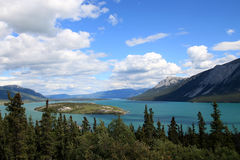 Bove Island in Tagish Lake, Carcross, Yukon, Canada Royalty Free Stock Photography