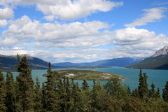 Bove Island in Tagish Lake, Carcross, Yukon, Canada Stock Photo