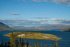 Bove Island on Tagish Lake, Yukon Stock Images