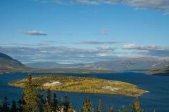 Bove Island on Tagish Lake, Yukon Stock Images