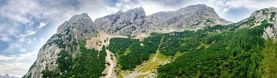 Bovec Rocks panorama Royalty Free Stock Images