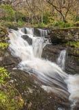Boven de belangrijkste watervallen in Inversnaid Stock Afbeeldingen