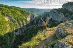 Boven de bergcanion van de Krim Royalty-vrije Stock Afbeelding