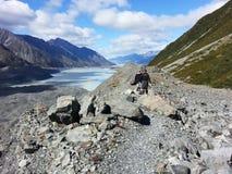 Boven de gletsjer stock fotografie