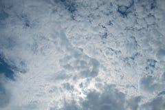Boven de wolk Stock Foto