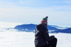 Boven de Wolken Stock Fotografie