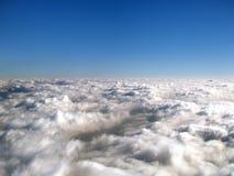 Boven de wolken Stock Afbeelding