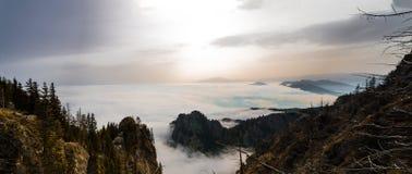 Boven de wolken Stock Foto