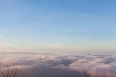 Boven de wolken in het Nationale Park van Lovcen Stock Foto's