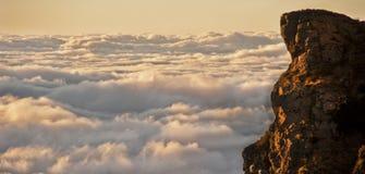 Boven de wolken, Zuid-Afrika stock afbeelding