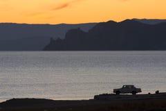 boven de Zwarte Zee, stock afbeelding