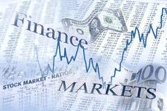 Boven en beneden in de financiële markten stock afbeeldingen