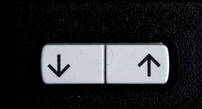 Boven en beneden pijlen Stock Fotografie