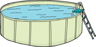 Boven Grondpool met Water royalty-vrije illustratie