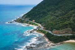 Boven Grote Oceaanweg Royalty-vrije Stock Foto's