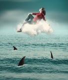 Boven haaien Royalty-vrije Stock Afbeelding