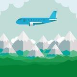 Boven het grondvliegtuig Stock Illustratie