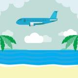 Boven het grondvliegtuig Royalty-vrije Illustratie