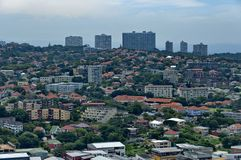 Boven mening aan de stad van Durban Royalty-vrije Stock Fotografie