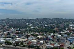 Boven mening aan de stad van Durban Stock Foto