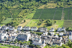 Boven mening van Cochem-stad, Duitsland Royalty-vrije Stock Afbeeldingen