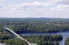 Boven mening van Ivy Lea Bridge stock afbeelding