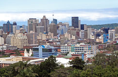 Boven Mening van Stadshorizon in Durban Zuid-Afrika Stock Fotografie