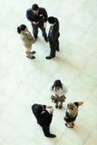 Boven meningsvergadering stock afbeeldingen
