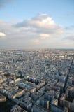 Boven op de Toren van Eiffel Stock Afbeeldingen