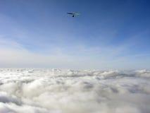Boven wolken royalty-vrije stock afbeeldingen