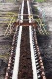 Bovengrondse bruinkoolmijn Riemtransportband Royalty-vrije Stock Foto