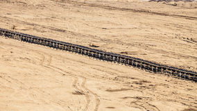 Bovengrondse bruinkoolmijn Riemtransportband Royalty-vrije Stock Foto's
