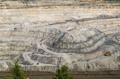 Bovengrondse mijn op mijnbouwverrichtingen in Asbest Rusland Royalty-vrije Stock Foto's