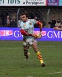 Bovenkant 14 rugbygelijke USAP versus Bourgoin Royalty-vrije Stock Foto's