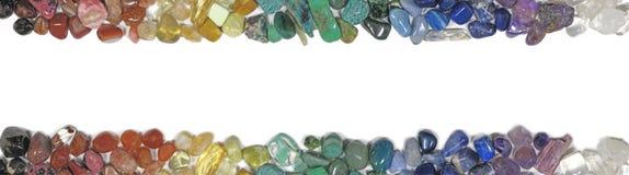 Bovenkant en Bodemkristallenbanner Stock Fotografie